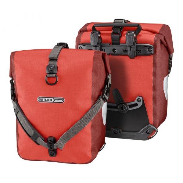 Ortlieb Sport Roller Plus, 2 x 12,5 l. signal red - dark chili