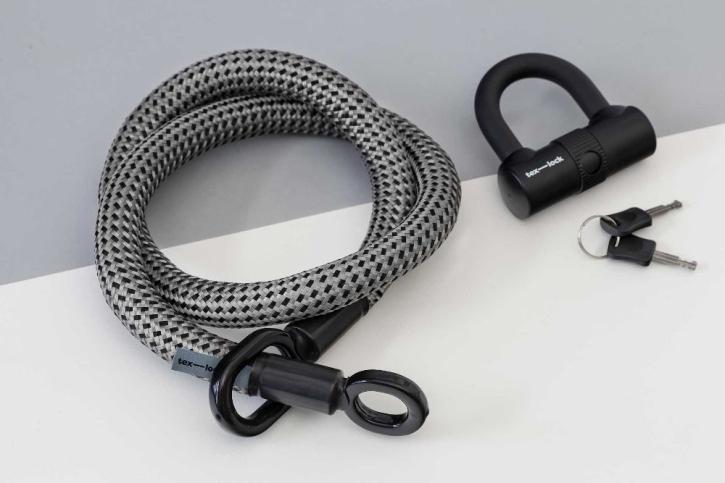tex-lock eyelet grau/schwarz / M (120cm) + U-Lock