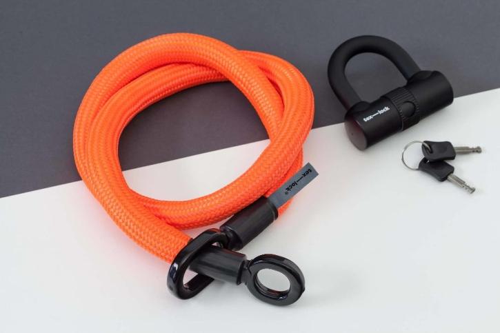 tex-lock eyelet orange / M (120cm) + U-Lock