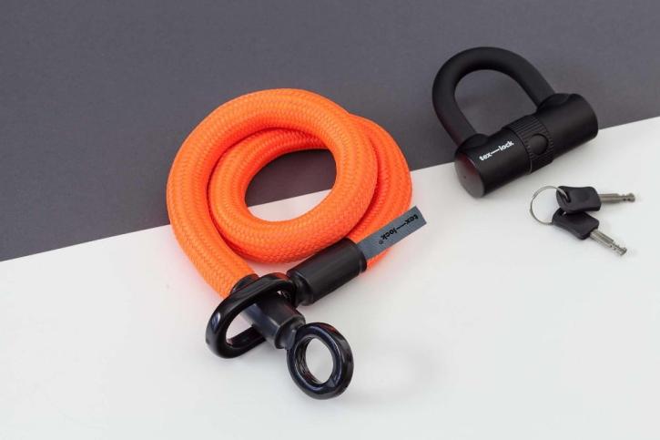 tex-lock eyelet orange / S (80cm) + U-Lock