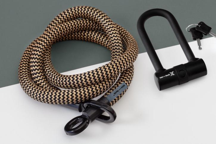 tex-lock eyelet gold/schwarz / L (160cm) + X-Lock
