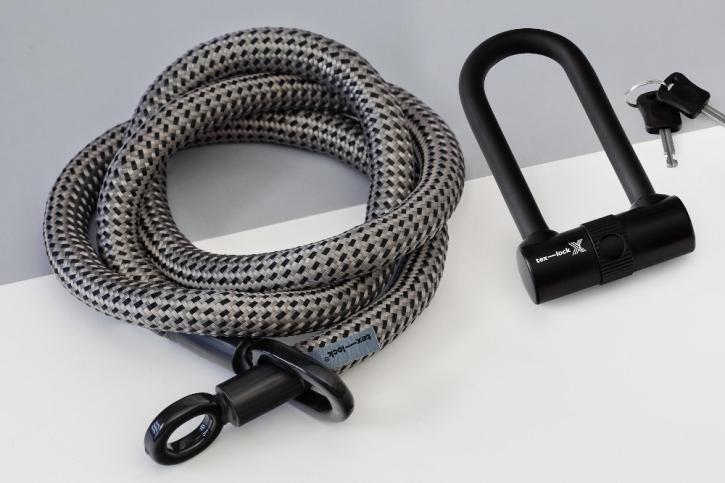 tex-lock eyelet grau/schwarz / L (160cm) + X-Lock