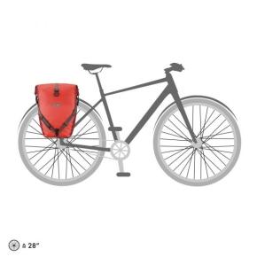 ORTLIEB Back-Roller Plus, 2 x 20 l. Signal Red - Dark Chili